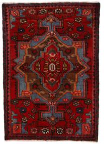 Nahavand Sag 68X100 Autentični Orijentalni Ručno Uzlan Tamnocrvena/Tamnosmeđa (Vuna, Perzija/Iran)