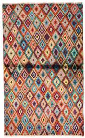 Moroccan Berber - Afghanistan Sag 85X142 Autentični Moderni Ručno Uzlan Tamnosmeđa/Hrđavo Crvena (Vuna, Afganistan)