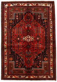 Hamadan Sag 142X208 Autentični  Orijentalni Ručno Uzlan Tamnocrvena/Hrđavo Crvena (Vuna, Perzija/Iran)