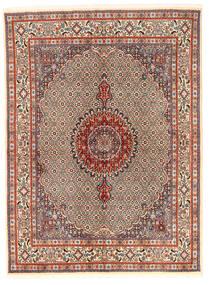 Moud Sag 167X226 Autentični  Orijentalni Ručno Uzlan Svjetlosmeđa/Tamnosmeđa (Vuna/Svila, Perzija/Iran)