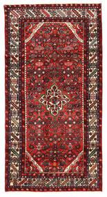 Hosseinabad Sag 122X238 Autentični Orijentalni Ručno Uzlan Tamnosmeđa/Tamnocrvena (Vuna, Perzija/Iran)