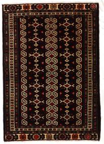 Turkaman Sag 81X116 Autentični Orijentalni Ručno Uzlan Crna/Tamnosmeđa (Vuna, Perzija/Iran)