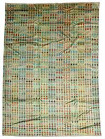 Moroccan Berber - Afghanistan Sag 207X288 Autentični  Moderni Ručno Uzlan Svjetlozelena/Maslinasto Zelena (Vuna, Afganistan)