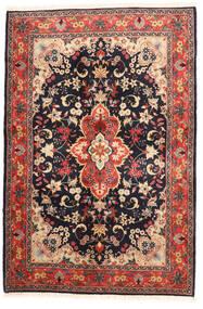 Yazd Sag 120X182 Autentični  Orijentalni Ručno Uzlan Crna/Tamnocrvena (Vuna, Perzija/Iran)
