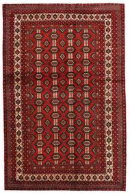Mashad Sag 130X200 Autentični  Orijentalni Ručno Uzlan Tamnocrvena/Tamnosmeđa (Vuna, Perzija/Iran)