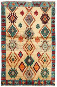 Moroccan Berber - Afghanistan Sag 114X183 Autentični  Moderni Ručno Uzlan Tamna Bež/Bež (Vuna, Afganistan)