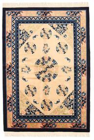 China Antički Finiš Sag 137X198 Autentični Orijentalni Ručno Uzlan Tamna Bež/Tamnoljubičasta (Vuna, Kina)
