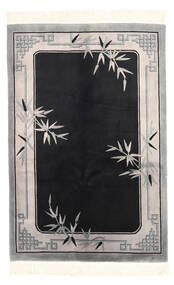 China Antički Finiš Sag 122X183 Autentični  Orijentalni Ručno Uzlan Crna/Svjetlosiva (Vuna, Kina)