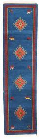 Gabbeh Indo Sag 80X303 Autentični  Moderni Ručno Uzlan Staza Za Hodnik  Tamnoplava/Crna (Vuna, Indija)