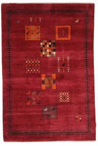 Gabbeh Loribaft Sag 120X180 Autentični  Moderni Ručno Uzlan Grimizno Crvena/Tamnocrvena (Vuna, Indija)