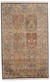 Kashmir Čista Svila Sag 96X154 Autentični  Orijentalni Ručno Uzlan Smeđa/Svjetlosmeđa (Svila, Indija)