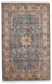 Kashmir Čista Svila Sag 97X155 Autentični  Orijentalni Ručno Uzlan Svjetlosiva/Bež (Svila, Indija)