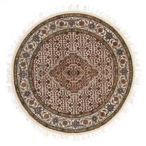 Tabriz Royal Sag Ø 101 Autentični Orijentalni Ručno Uzlan Okrugli Smeđa/Bež ( Indija)
