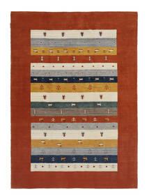 Loribaf Loom Sag 167X233 Autentični  Moderni Ručno Uzlan Tamnocrvena/Bež (Vuna, Indija)