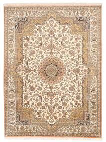 Kashmir Čista Svila Sag 157X211 Autentični  Orijentalni Ručno Uzlan Smeđa/Bež (Svila, Indija)