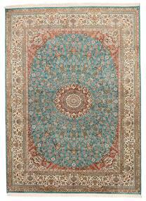 Kashmir Čista Svila Sag 159X218 Autentični Orijentalni Ručno Uzlan Smeđa/Tamnosiva (Svila, Indija)