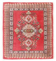 Kashmar Sag 75X84 Autentični  Orijentalni Ručno Uzlan Tamnocrvena/Grimizno Crvena (Vuna, Perzija/Iran)