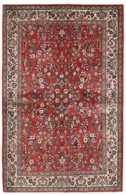 Sarough Sag 132X206 Autentični Orijentalni Ručno Uzlan Tamnocrvena/Bež (Vuna, Perzija/Iran)