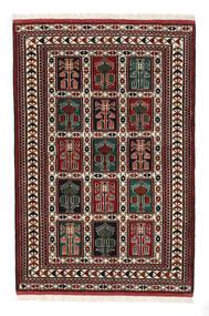 Turkaman Sag 98X146 Autentični Orijentalni Ručno Uzlan Tamnosmeđa/Tamnocrvena (Vuna, Perzija/Iran)