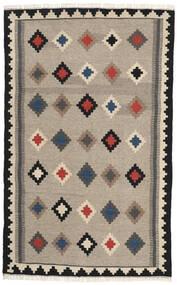 Ćilim Sag 102X165 Autentični Orijentalni Ručno Tkani Svjetlosiva/Tamnosiva (Vuna, Perzija/Iran)