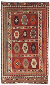 Ćilim Vintage Sag 133X232 Autentični Orijentalni Ručno Tkani Tamnocrvena/Svjetlosmeđa/Tamnosmeđa (Vuna, Perzija/Iran)