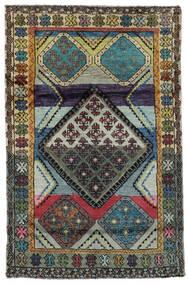 Moroccan Berber - Afghanistan Sag 111X169 Autentični  Moderni Ručno Uzlan Crna/Tamnosiva (Vuna, Afganistan)