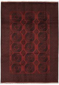 Afghan Sag 205X285 Autentični Orijentalni Ručno Uzlan Crna (Vuna, Afganistan)