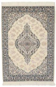 Nain 9La Sag 100X146 Autentični Orijentalni Ručno Uzlan Tamnosiva/Svjetlosmeđa (Vuna/Svila, Perzija/Iran)