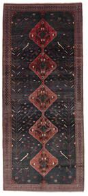 Hamadan Sag 156X361 Autentični Orijentalni Ručno Uzlan Staza Za Hodnik Crna/Tamnosmeđa (Vuna, Perzija/Iran)