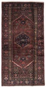 Hamadan Sag 106X205 Autentični Orijentalni Ručno Uzlan Crna/Tamnosmeđa (Vuna, Perzija/Iran)