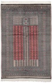 Pakistan Bokhara 2Ply Sag 132X195 Autentični  Orijentalni Ručno Uzlan Crna/Tamnosiva (Vuna, Pakistan)