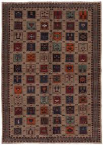 Beluch Sag 207X290 Autentični Orijentalni Ručno Uzlan Crna/Tamnosmeđa (Vuna, Afganistan)