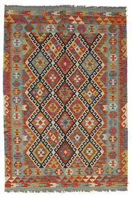 Ćilim Afghan Old Style Sag 126X185 Autentični  Orijentalni Ručno Tkani Tamnocrvena/Tamnosmeđa (Vuna, Afganistan)