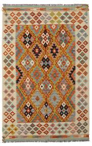 Ćilim Afghan Old Style Sag 125X188 Autentični  Orijentalni Ručno Tkani Tamnosmeđa/Bež (Vuna, Afganistan)