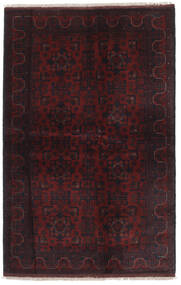 Afghan Khal Mohammadi Sag 129X202 Autentični Orijentalni Ručno Uzlan Crna (Vuna, Afganistan)