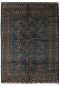 Afghan Sag 207X286 Autentični  Orijentalni Ručno Uzlan Crna/Tamnosmeđa (Vuna, Afganistan)