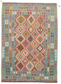Ćilim Afghan Old Style Sag 172X238 Autentični  Orijentalni Ručno Tkani Tamnozelena/Tamnosmeđa/Tamnosiva (Vuna, Afganistan)