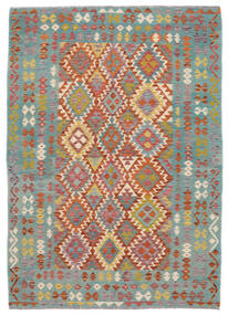 Ćilim Afghan Old Style Sag 172X240 Autentični  Orijentalni Ručno Tkani Tamnozelena/Tamnosmeđa (Vuna, Afganistan)